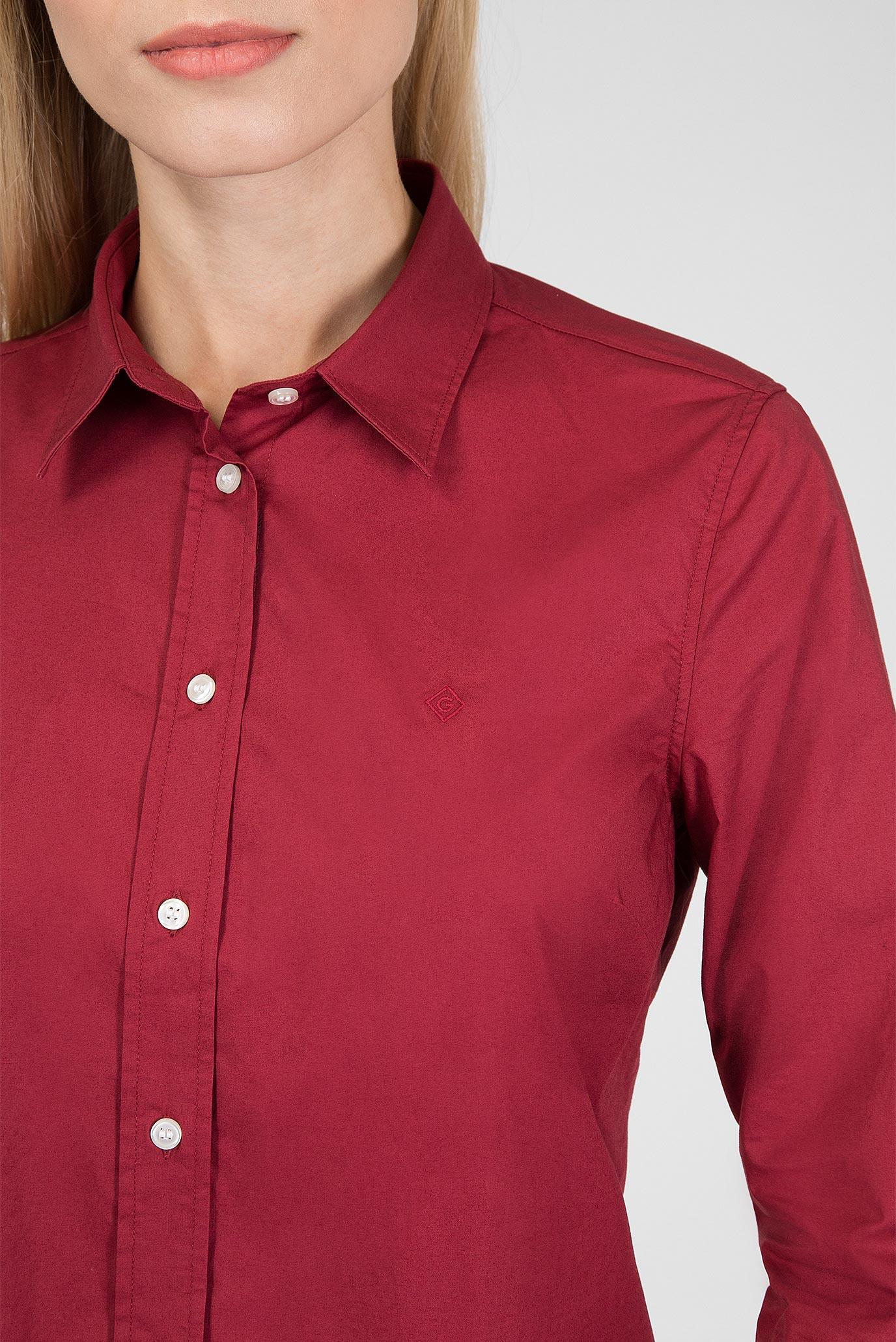 Купить Женская бордовая рубашка Gant Gant 4350022 – Киев, Украина. Цены в интернет магазине MD Fashion