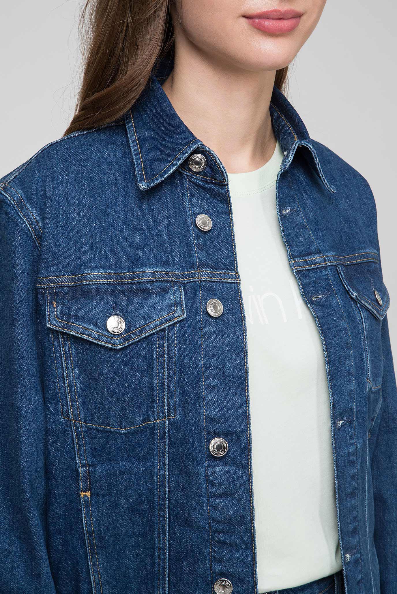 Женская синяя джинсовая куртка CLASSIC TRUCKER Calvin Klein