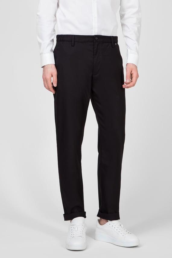 Мужские черные брюки TAPERED ELASTIC TWILL