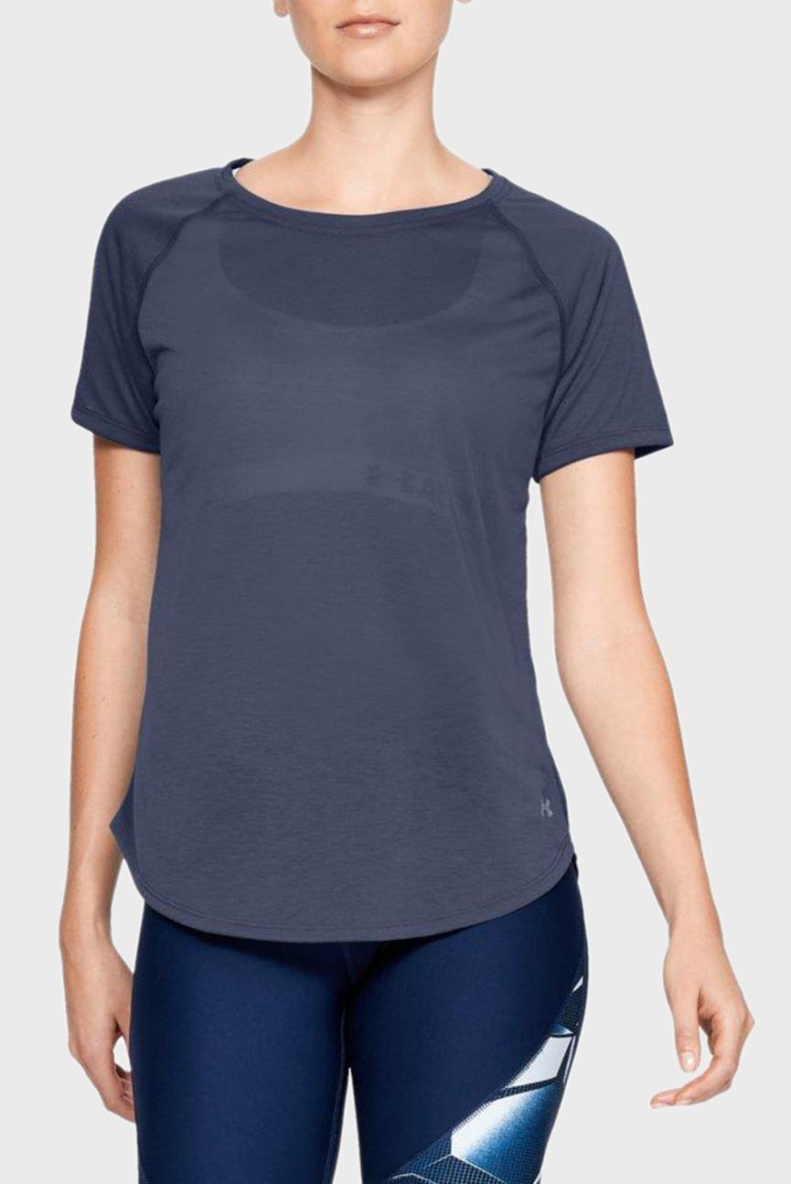 Женская синяя футболка Whisperlight Short Sleeve
