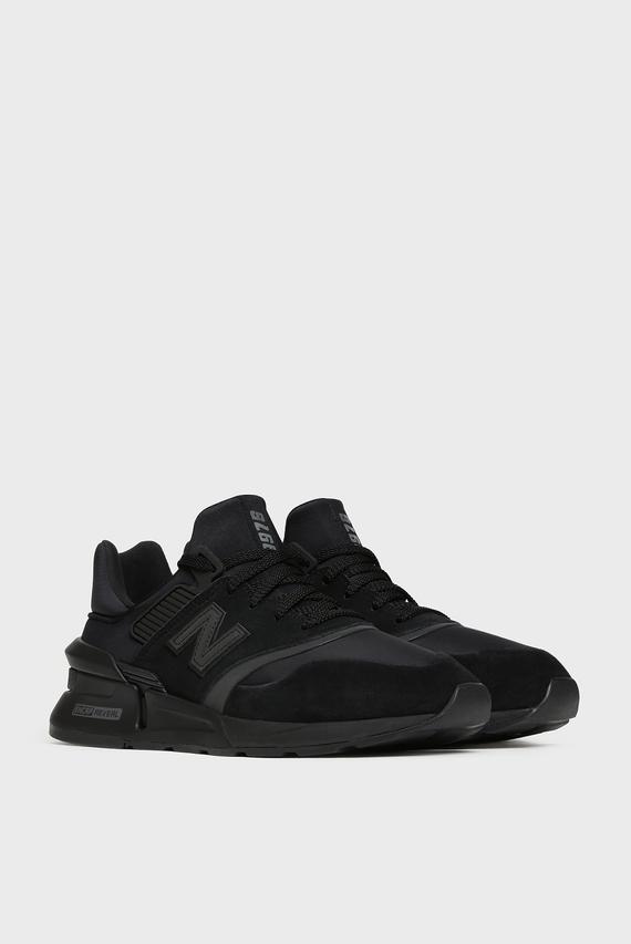 Мужские черные замшевые кроссовки 997