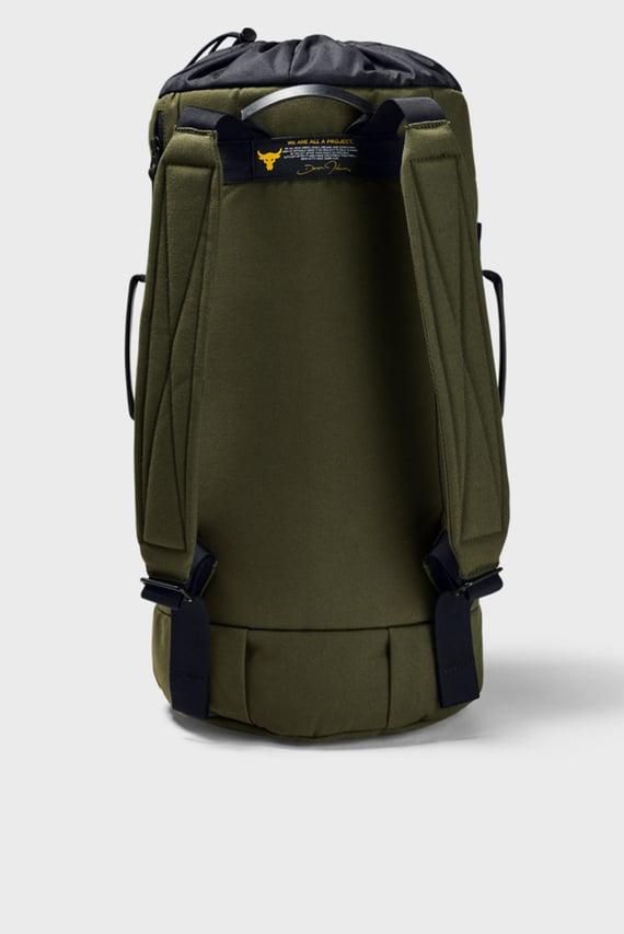 Мужской зеленый рюкзак UA Project Rock 60 Gym Bag-GRN