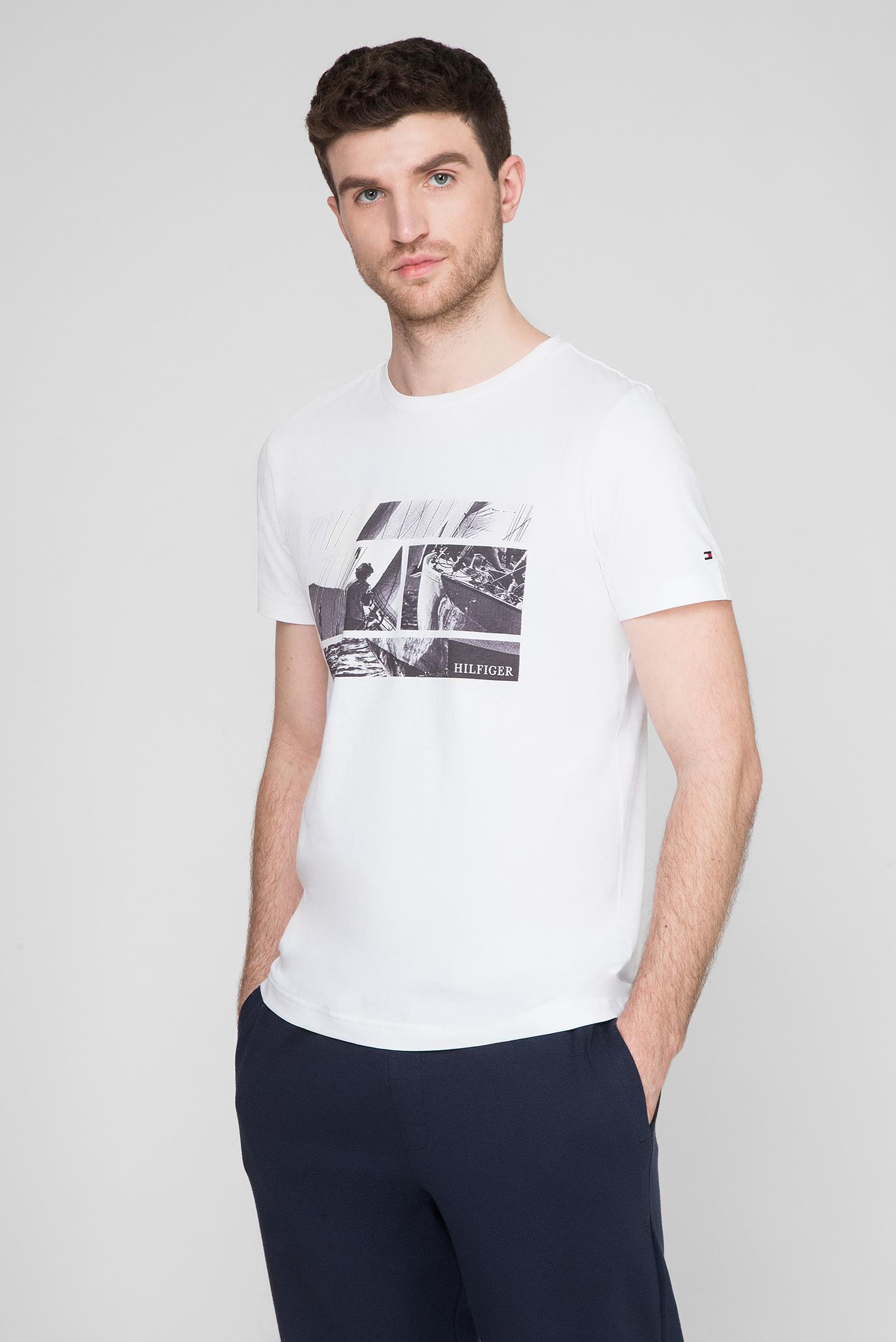 Мужская белая футболка WCC FLAG PHOTO PRINT Tommy Hilfiger