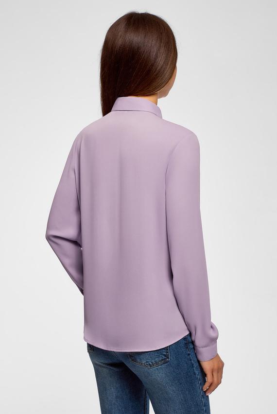 Женская фиолетовая блуза