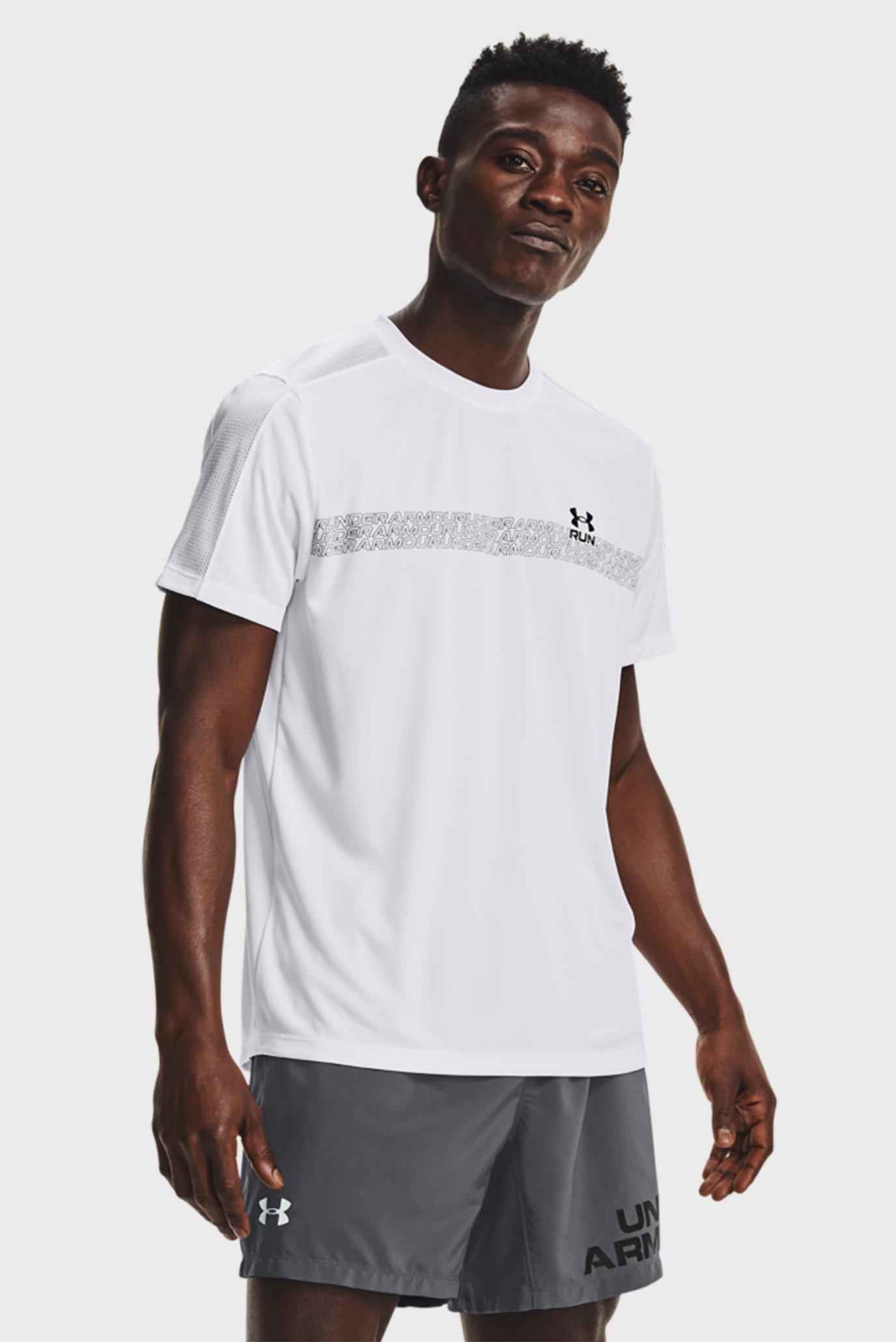 Мужская белая футболка UA Speed Stride Graphic SS 1