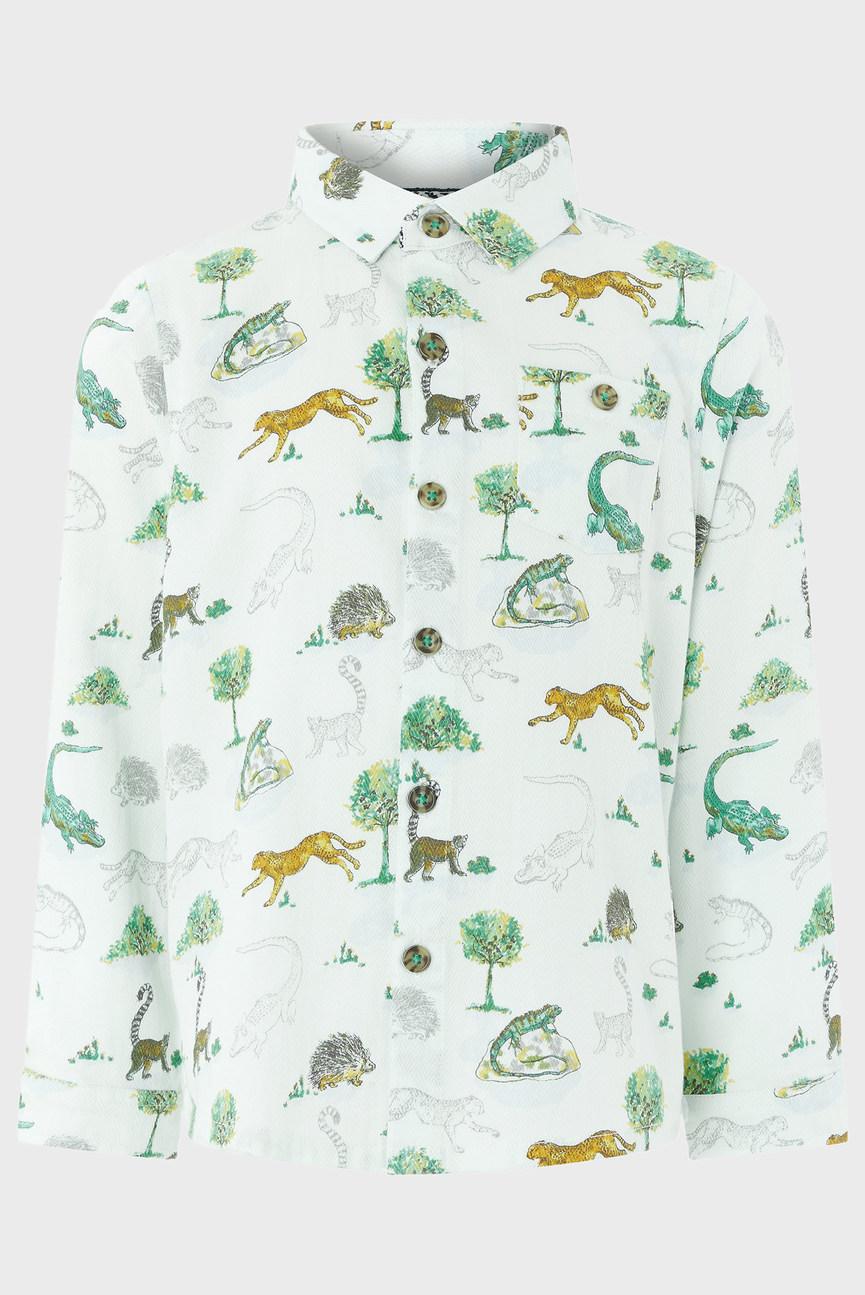 Детская белая рубашка Lemur Shirt