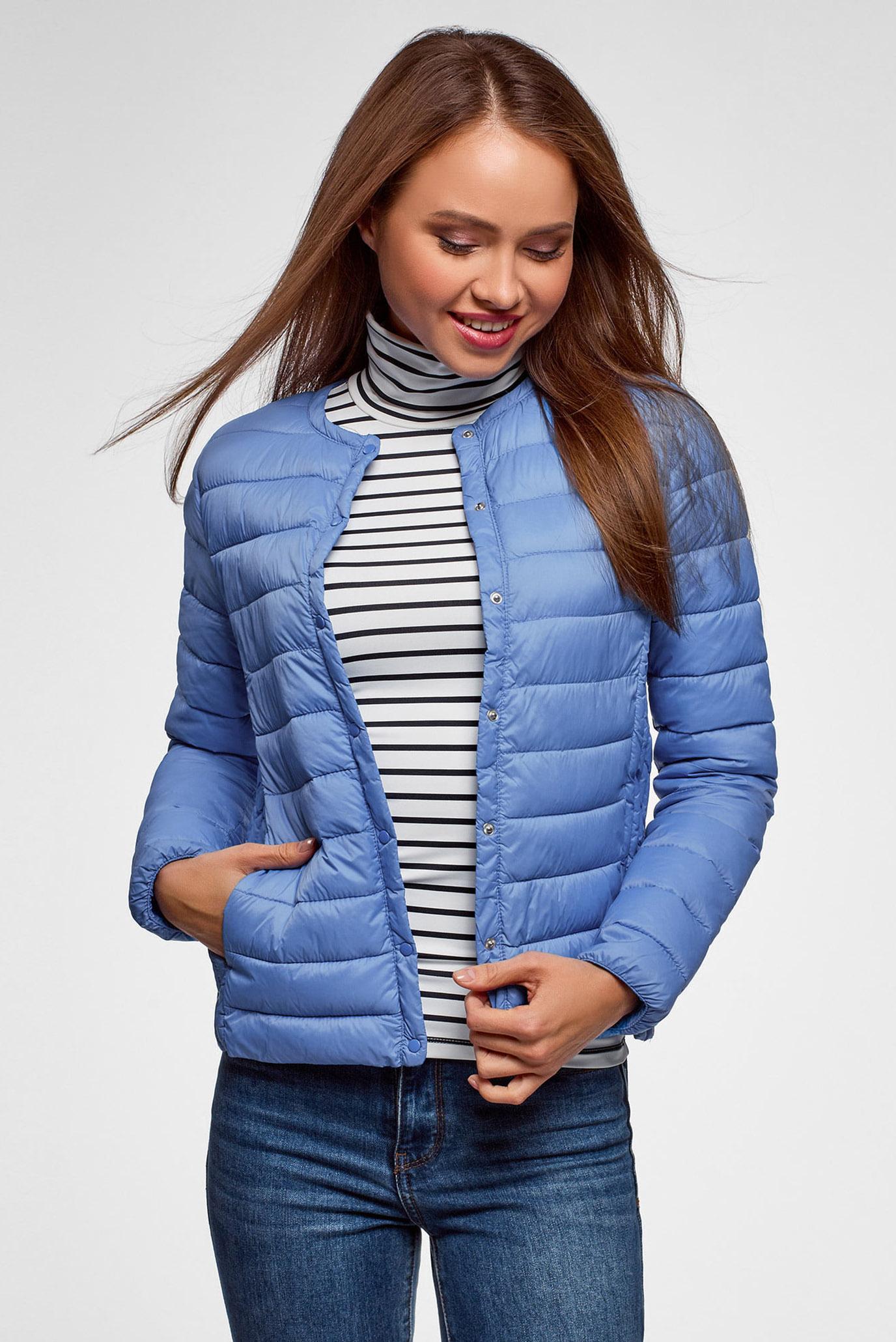 6d1293bf524 Купить Женская голубая куртка Oodji Oodji 10204040B 45638 7502N – Киев