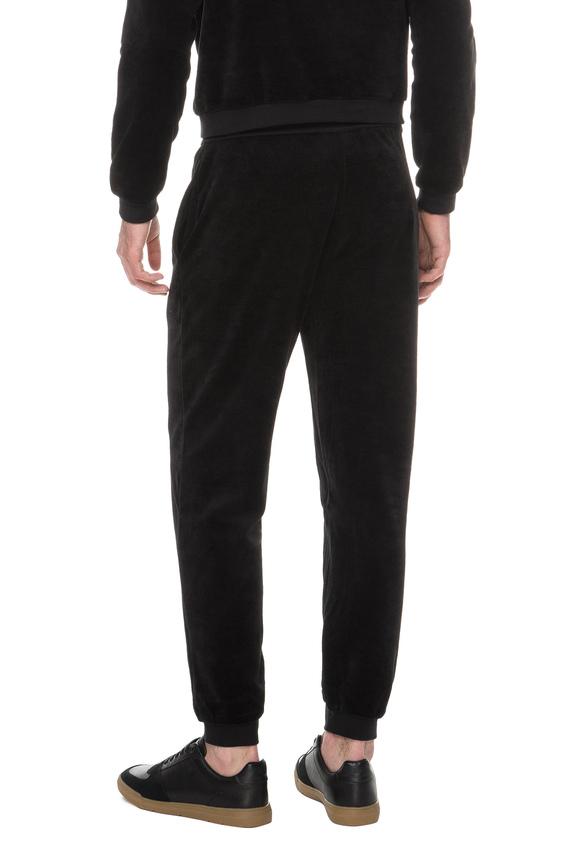 Мужские черные бархатные спортивные брюки