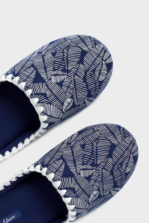 Женские темно-синие тапочки с принтом DONNA