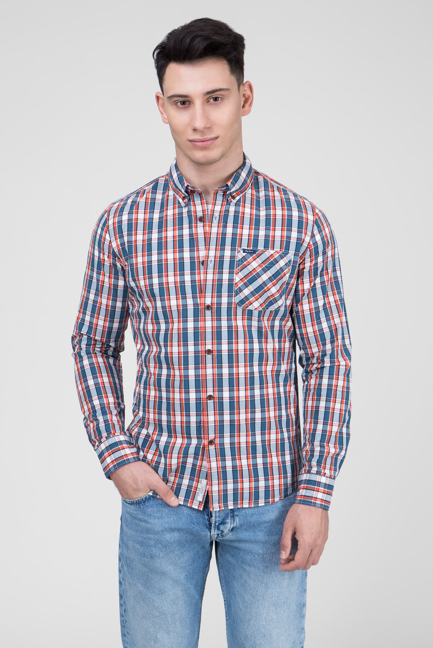 Купить Мужская рубашка в клетку CURTIS Pepe Jeans Pepe Jeans PM305460 – Киев, Украина. Цены в интернет магазине MD Fashion