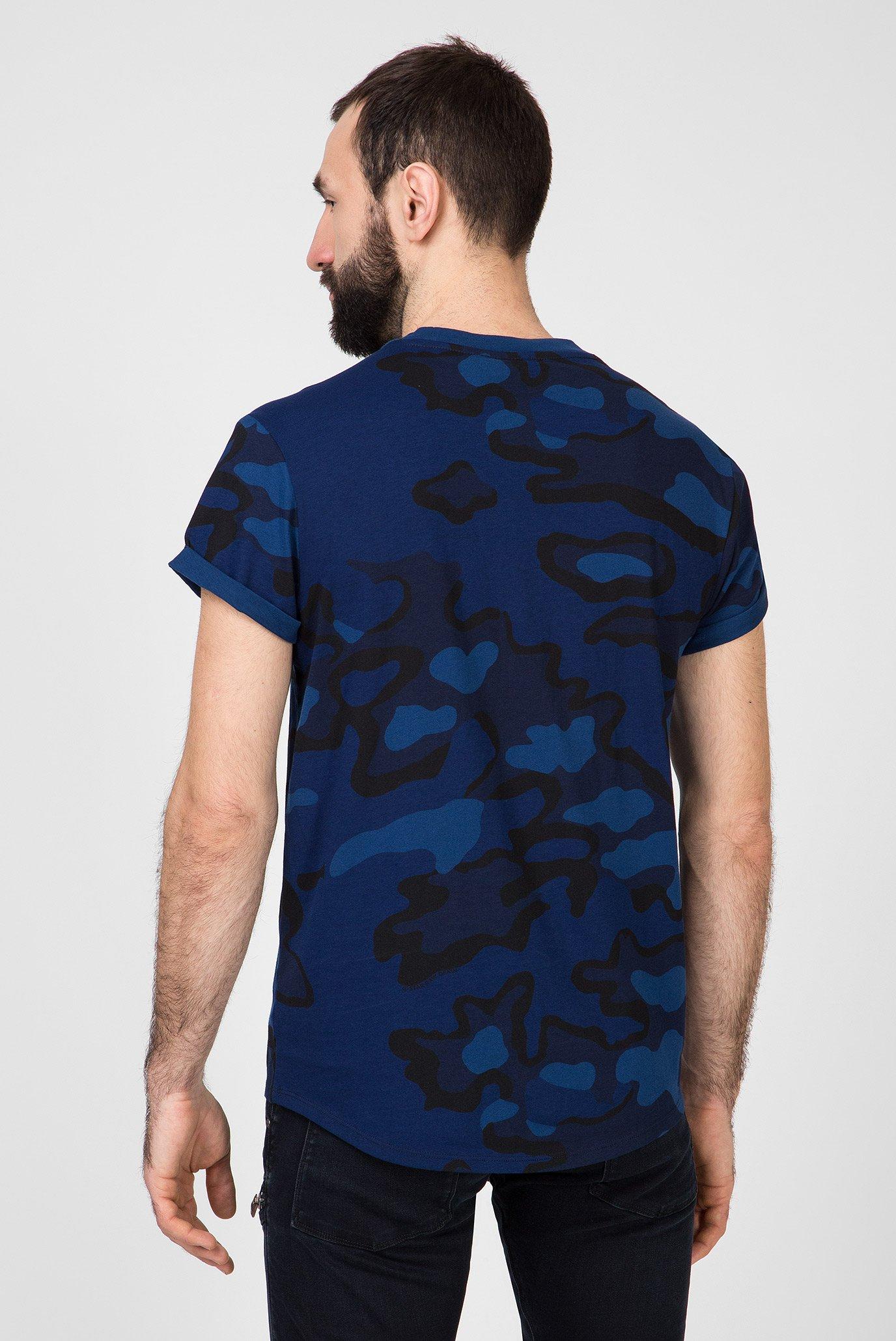 Мужская синяя камуфляжная футболка Shelo G-Star RAW
