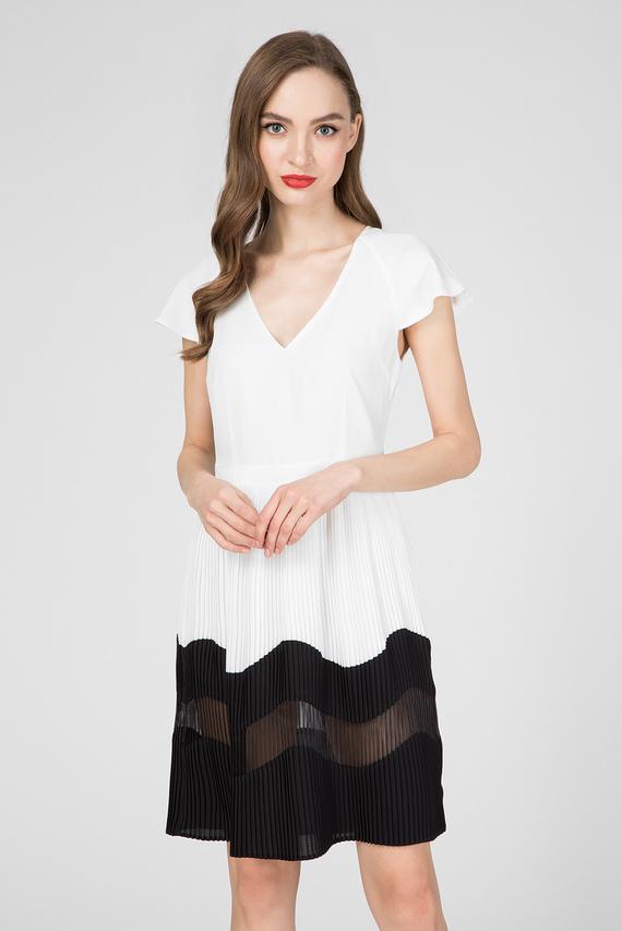 Женское белое платье GOEMETRIC