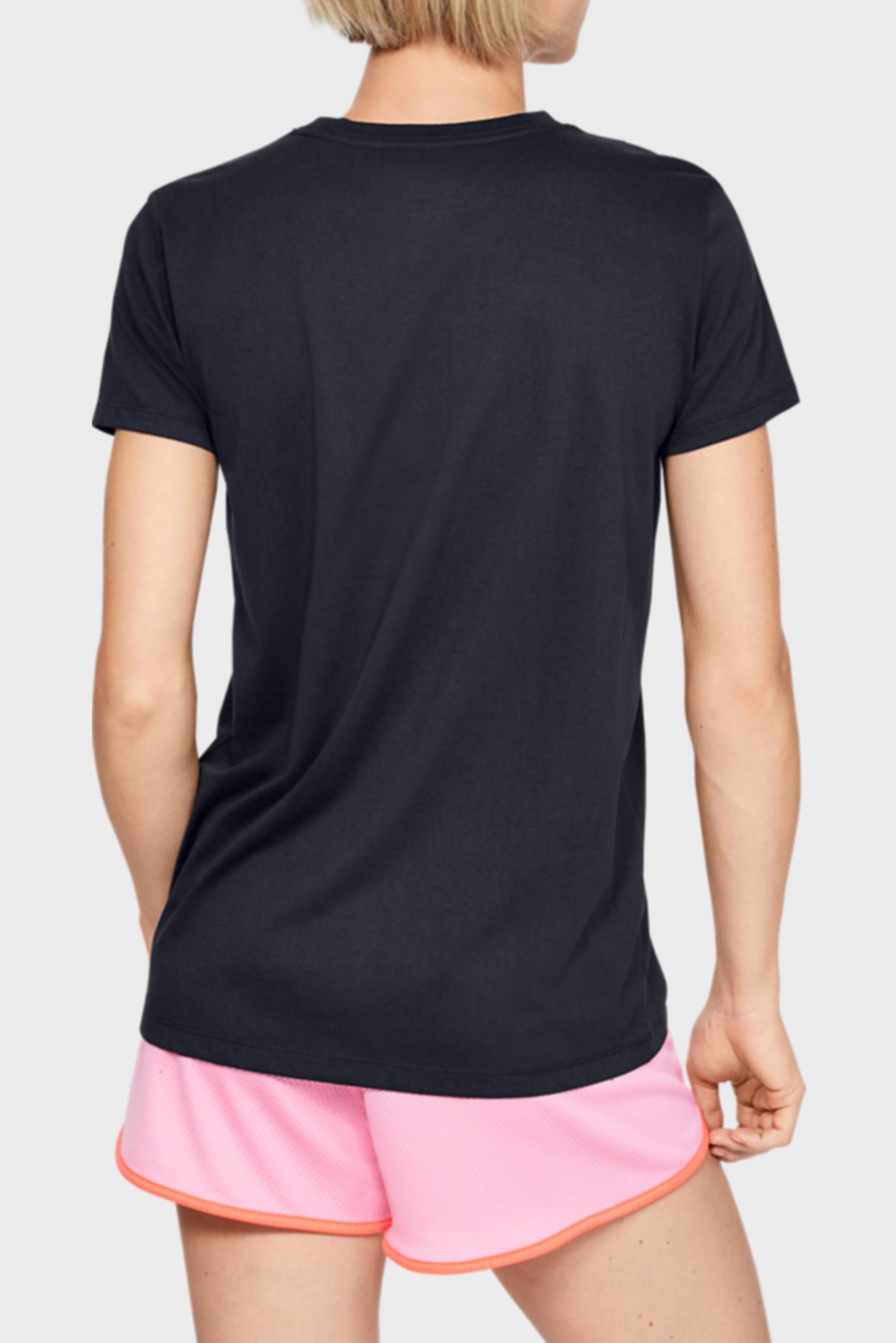 Женская черная футболка GRAPHIC SPORTSTYLE CLASSIC CREW-BLK Under Armour