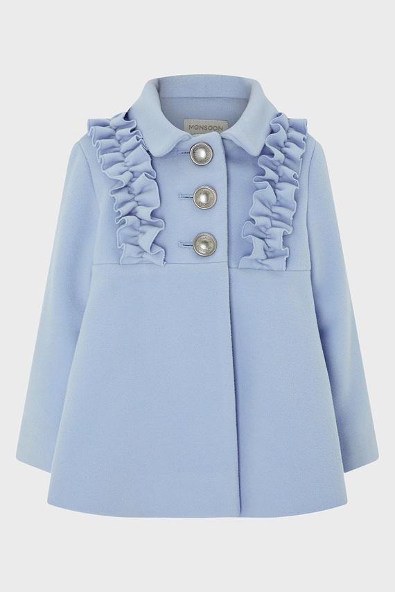 Детское голубое пальто BABY FLORRIE FRILL