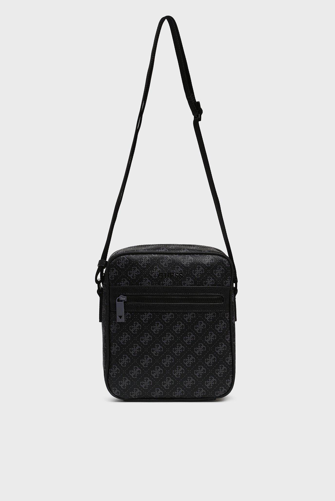 Мужская черная сумка через плечо 4G SPORT TOP ZIP CROSSBODY Guess