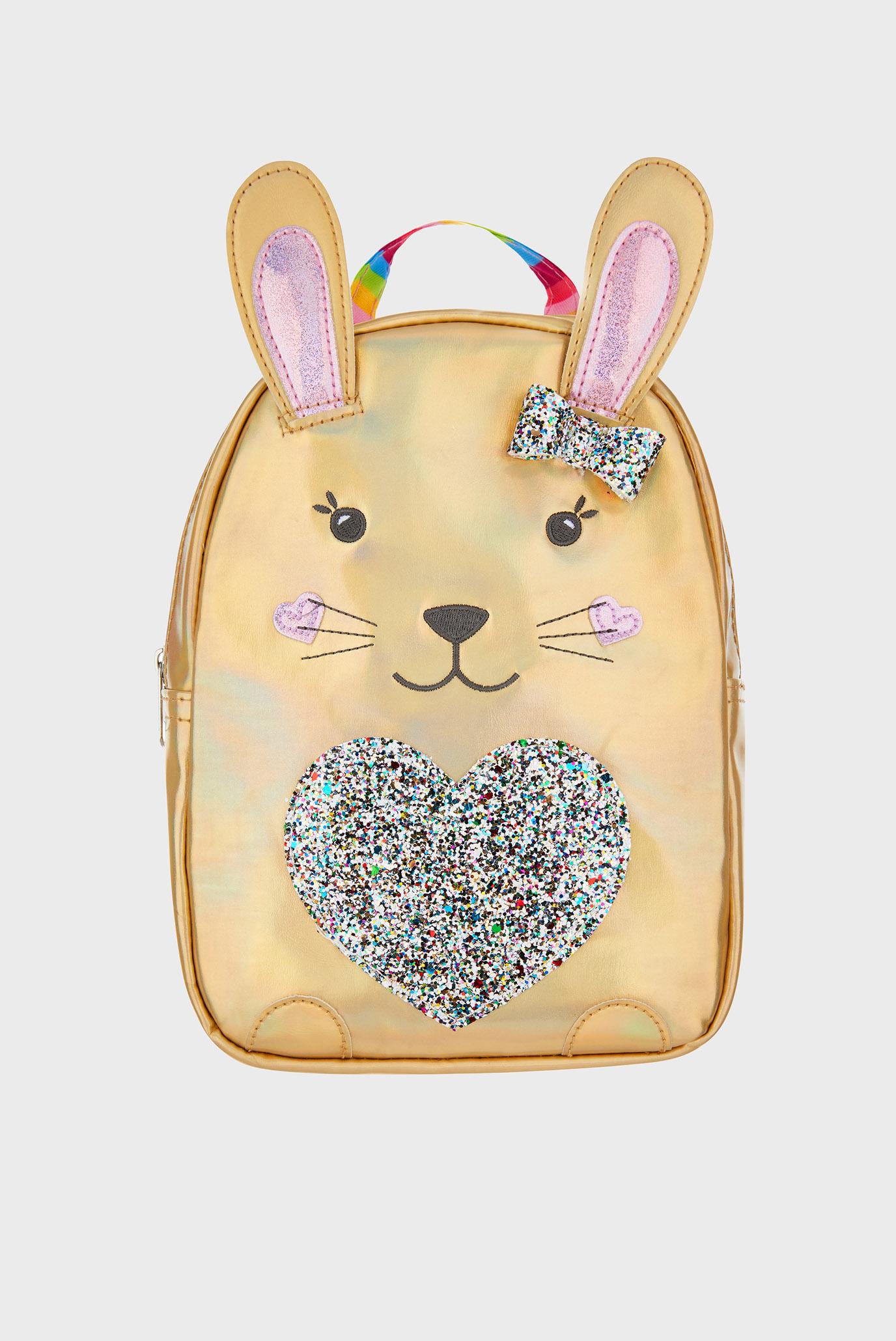Детский золотистый рюкзак RAINBOW BUNNY BACKPACK Accessorize