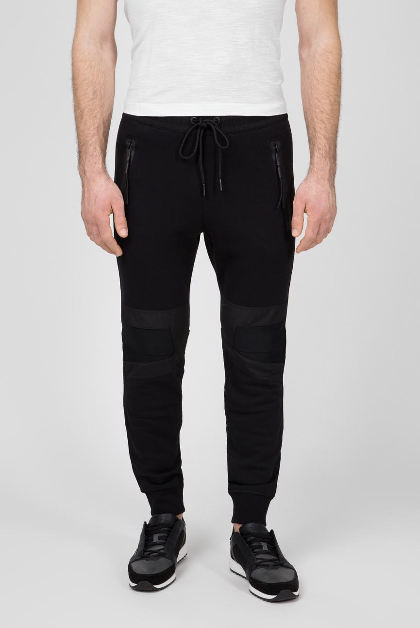 Мужские черные спортивные брюки P-OSAMU-SW