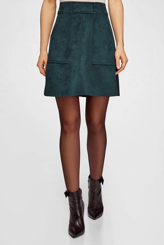Женская зеленая юбка