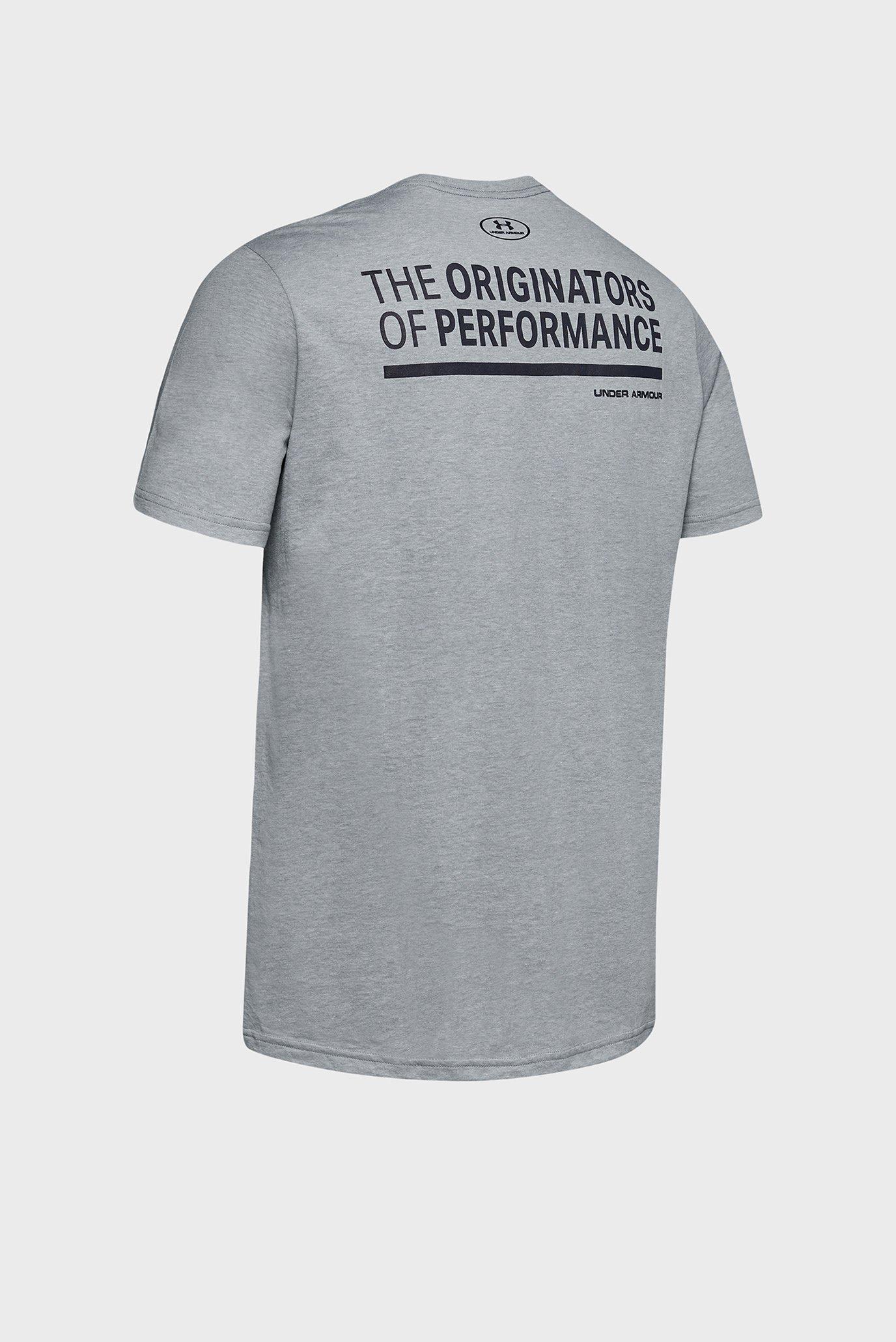 Мужская серая футболка UA ORIGINATORS OF PERFORMANCE SS-GRY Under Armour