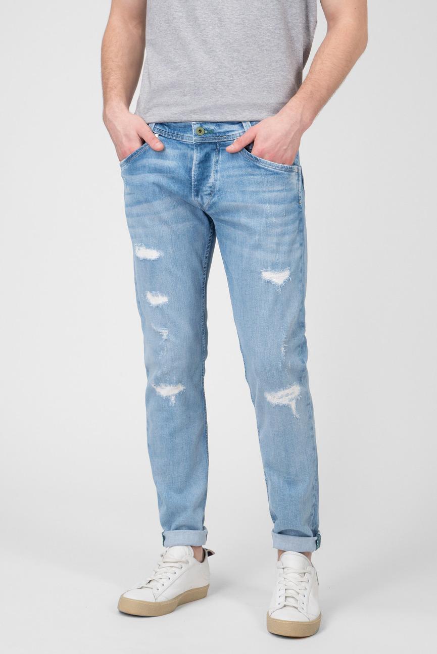 Мужские синие джинсы Spike Wiser Wash
