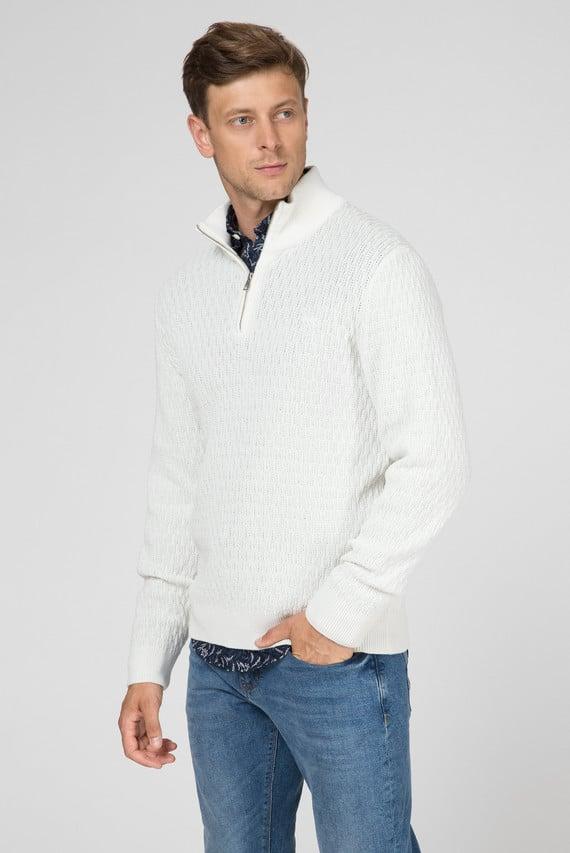 Мужской белый свитер WHEAT TEXTURE