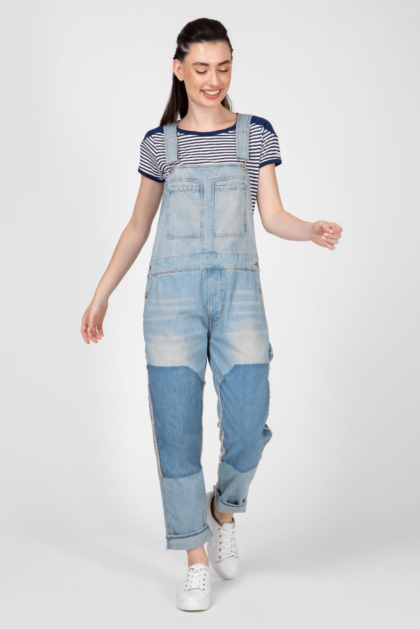 Женский голубой джинсовый комбинезон Faeroes G-Star RAW