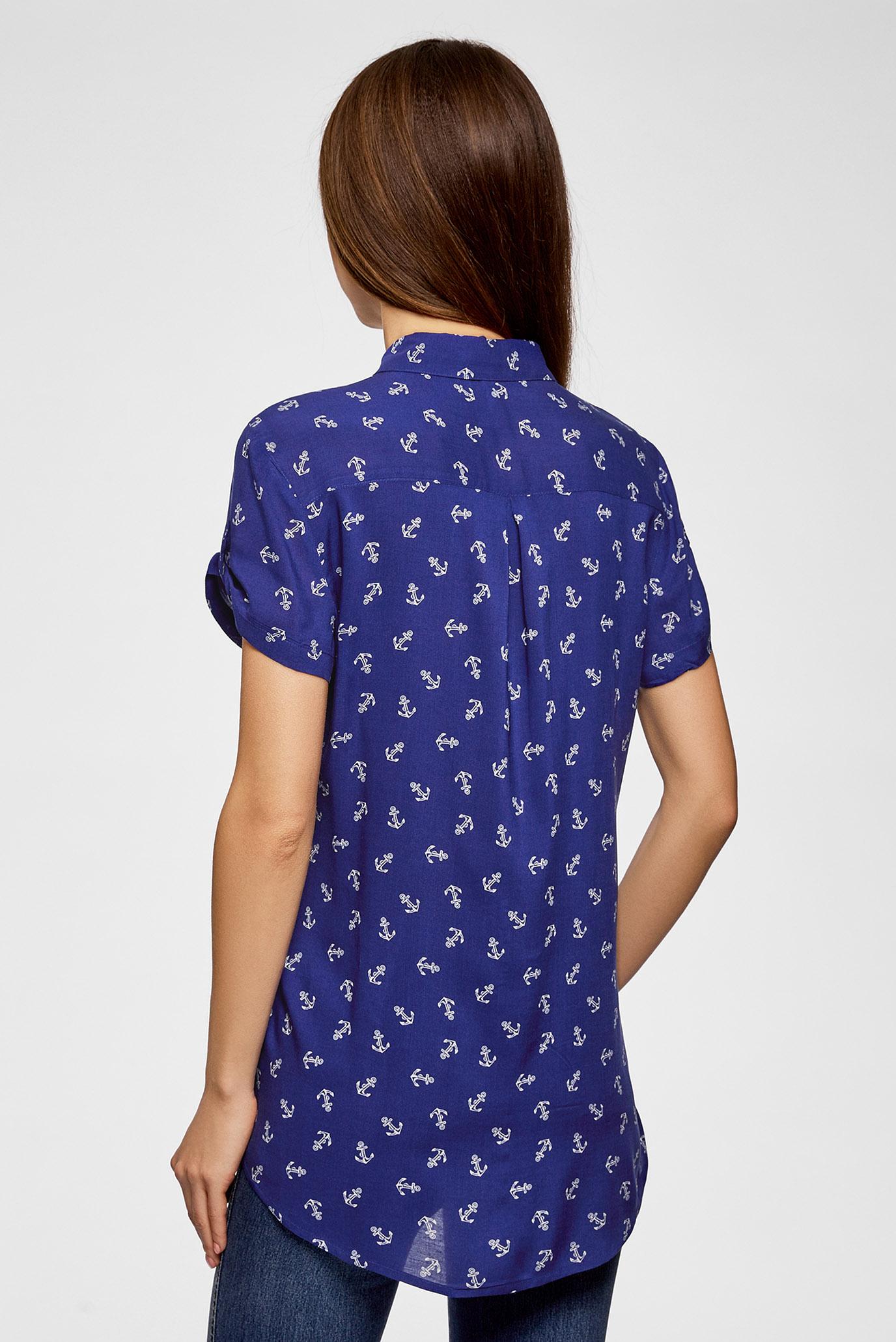 Купить Женская синяя блуза Oodji Oodji 11400391-4B/24681/7512O – Киев, Украина. Цены в интернет магазине MD Fashion