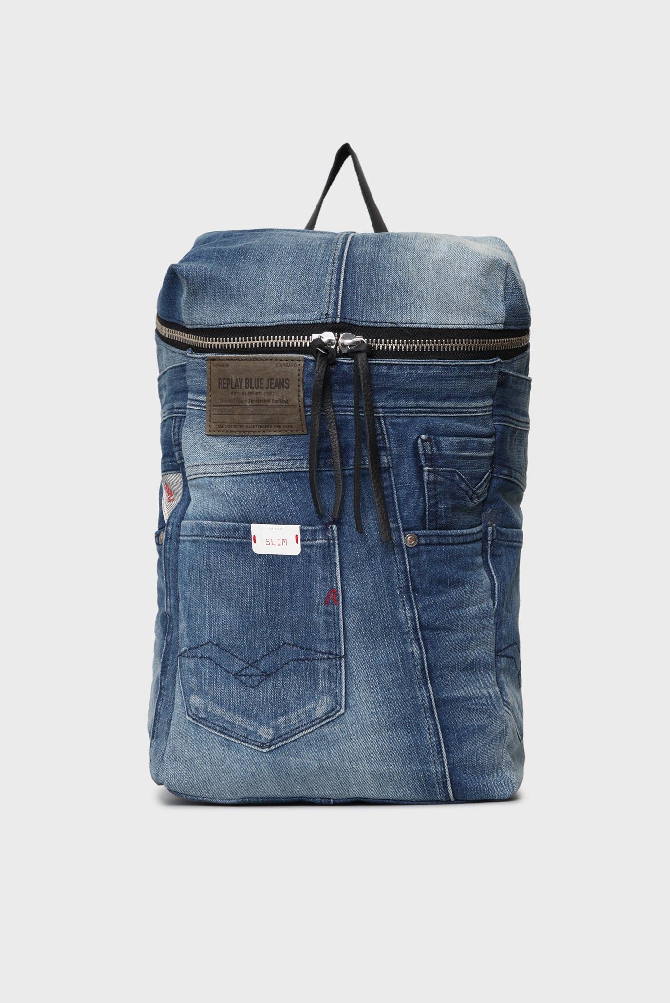 e2c852be5 Купить Синий джинсовый рюкзак Replay Replay FU3034.001.A0181F – Киев,  Украина. Цены в интернет магазине MD Fashion