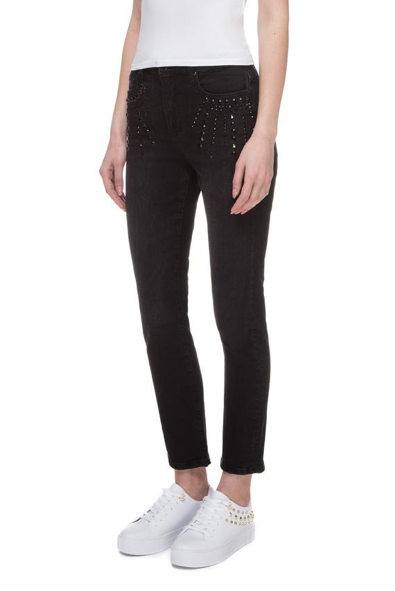 Женские черные джинсы THE IT GIRL SKINNY SLIM HIGH