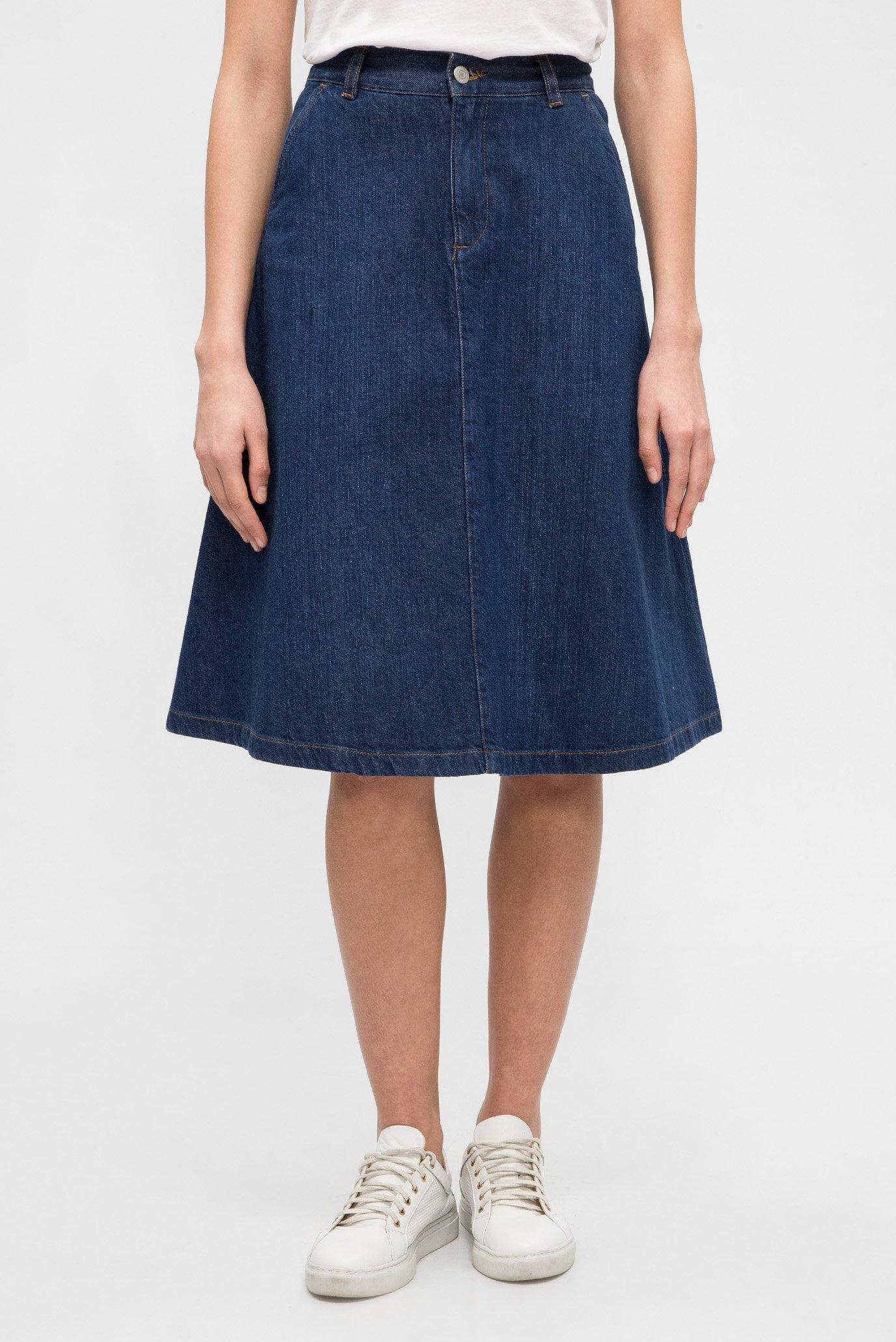 75908afee3c Купить Женская синяя джинсовая юбка A-LINE DENIM MIDI SKIRT Gant Gant  4400009 – Киев