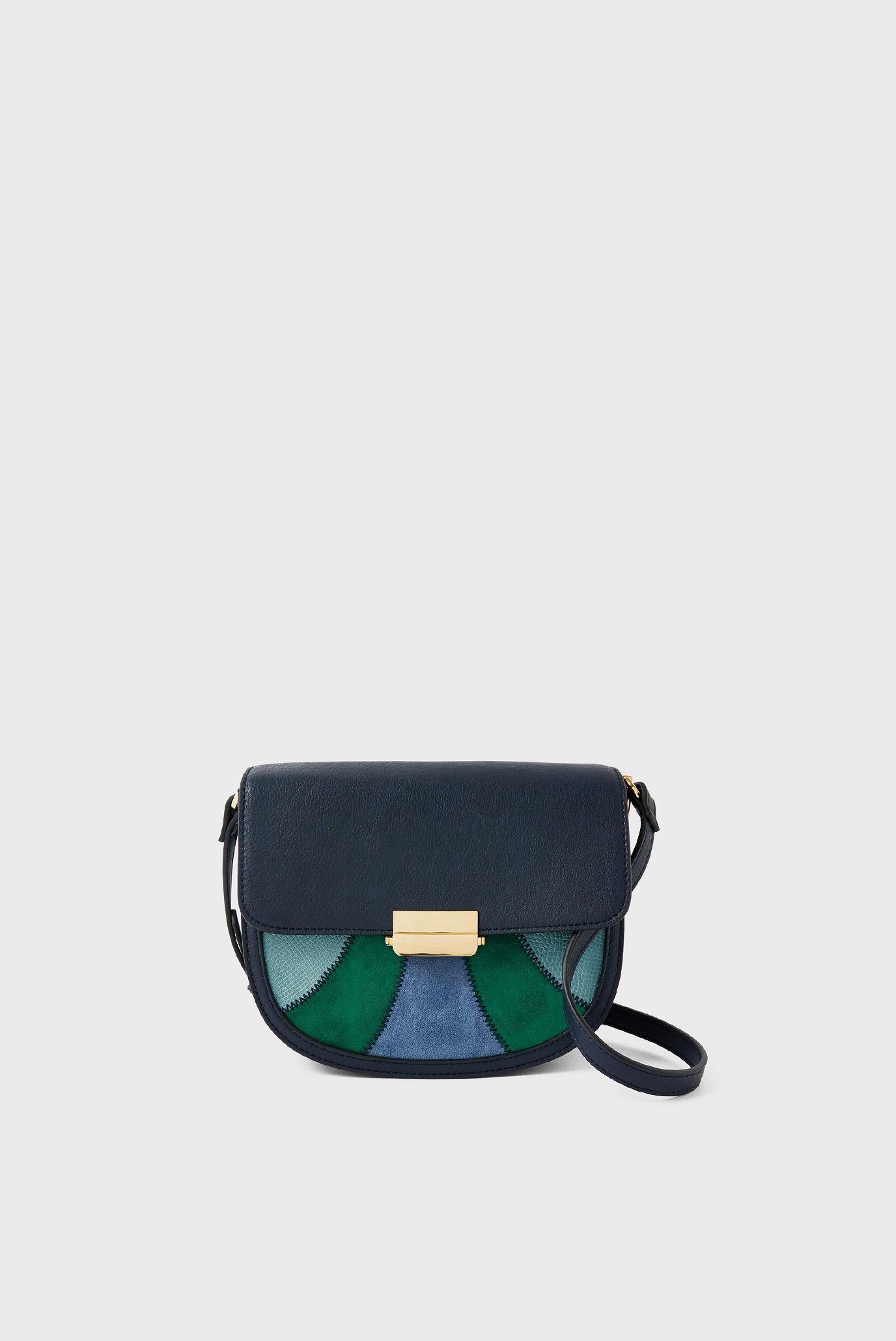Женская синяя сумка ELOISE PATCHWORK XBO 1