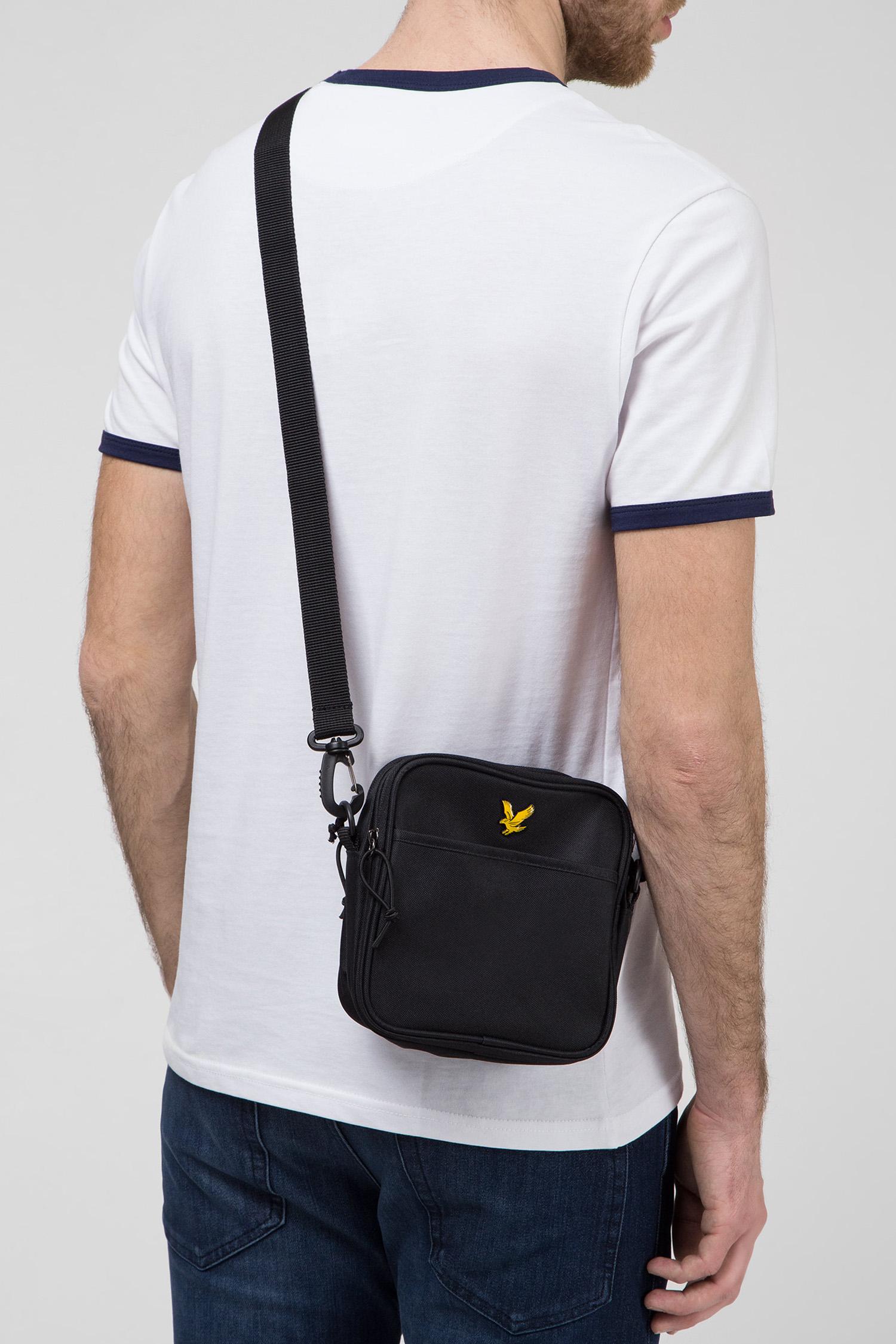 Мужская черная сумка через плечо Lyle & Scott