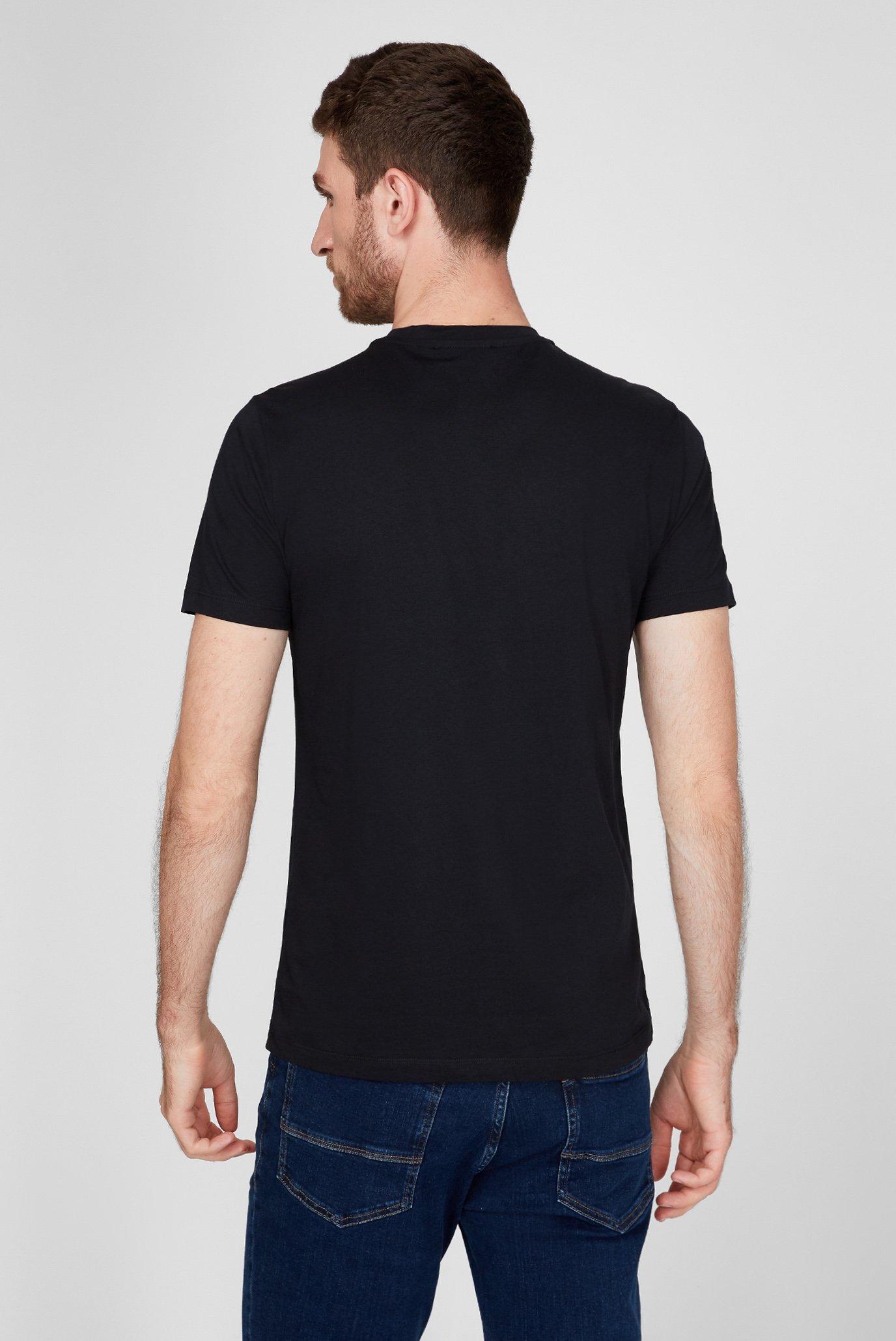 Мужская черная футболка REGULAR FIT Trussardi Jeans