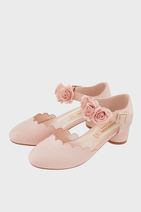 Детские розовые туфли MATILDA CORSAGE TWO