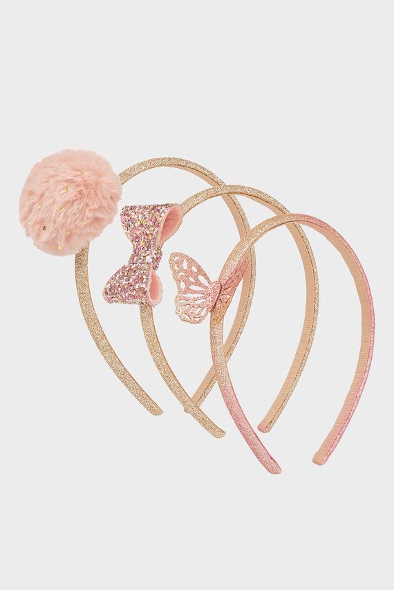 Детский розовый обруч (3 шт.) 3 PK Fluffy Spot & B