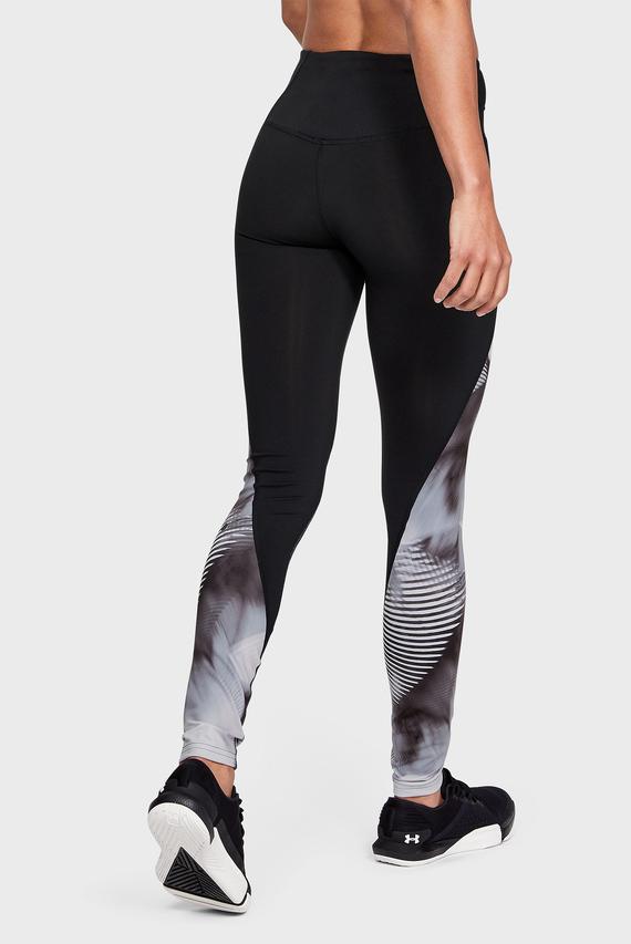 Женские черные тайтсы с принтом UA Rush Legging
