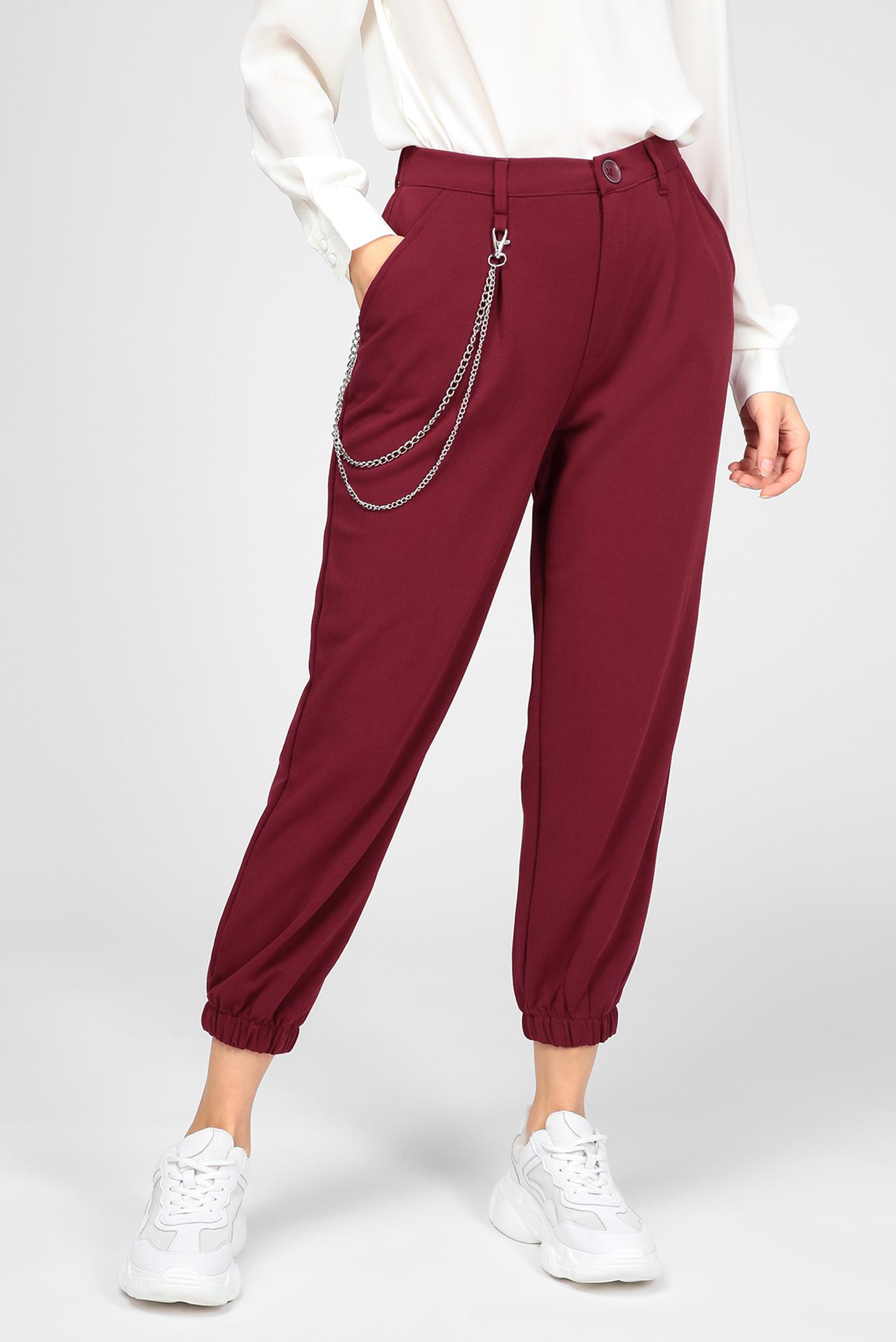 Жіночі бордові брюки 1