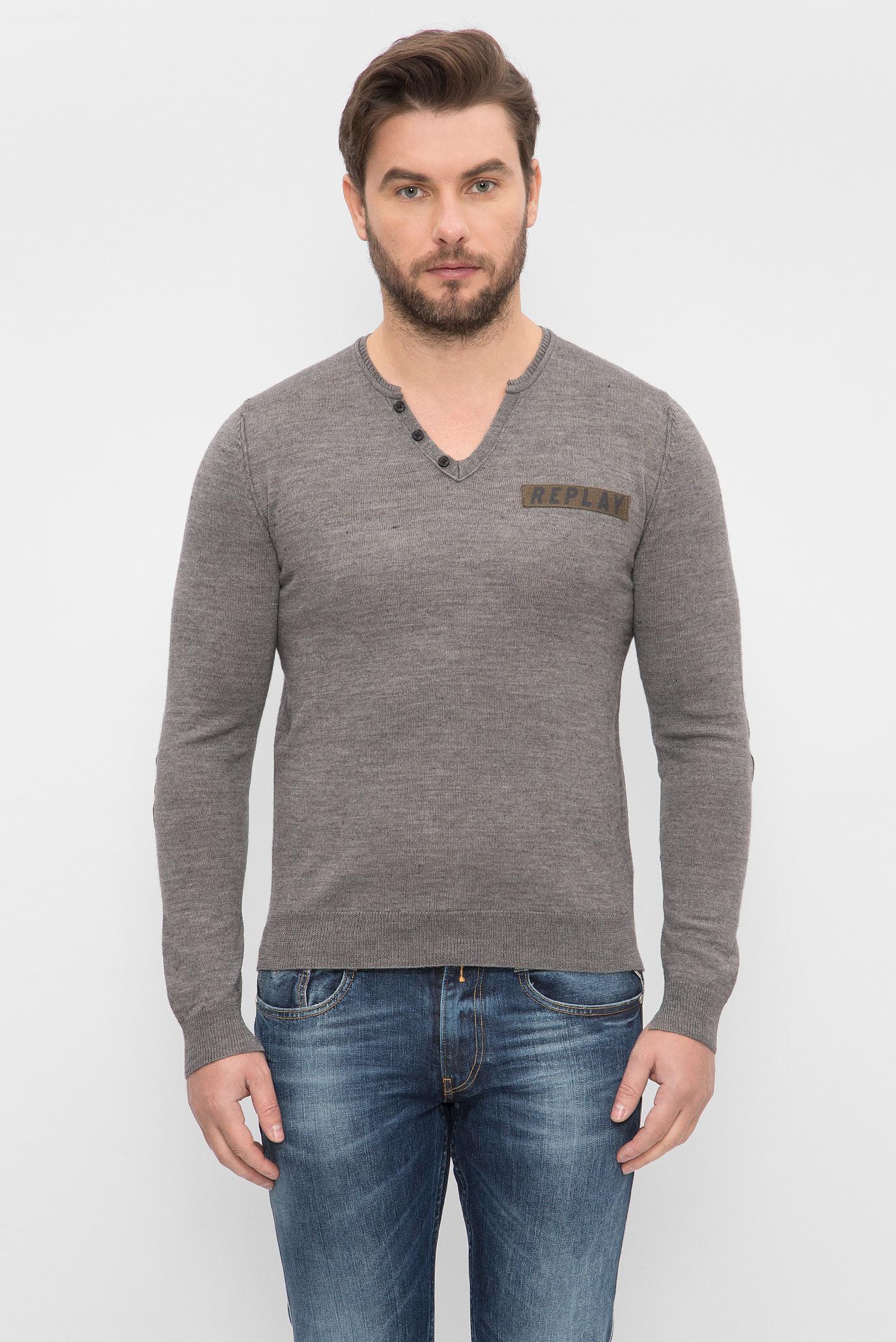 33116066bb433 Купить Мужской серый пуловер Replay Replay UK1608.000.G22456 – Киев,  Украина. Цены в интернет магазине MD Fashion