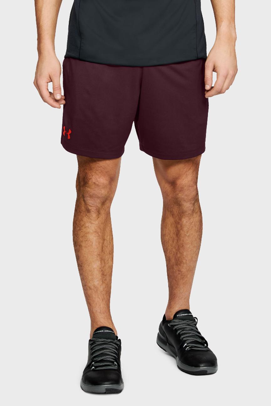 Мужские бордовые шорты UA MK1