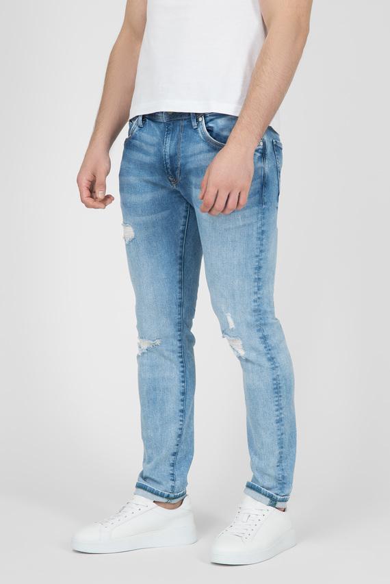 Мужские голубые джинсы STANLEY DISTRESSED ECO