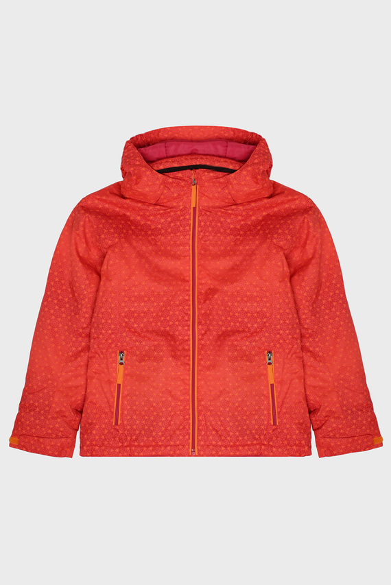 Детская оранжевая лыжная куртка