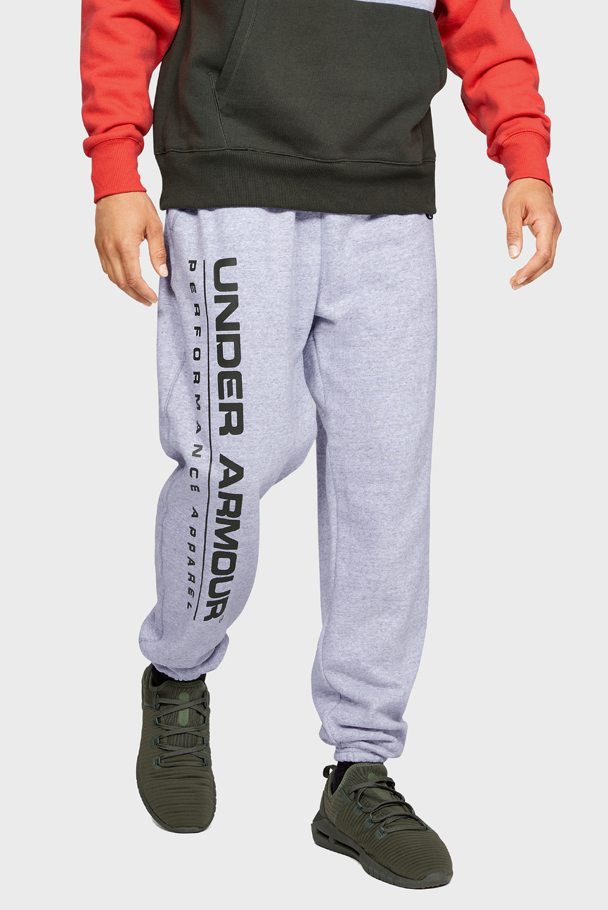 Мужские светло-серые спортивные брюки UA PERFORMANCE ORIGINATORS FLEECE LOGO