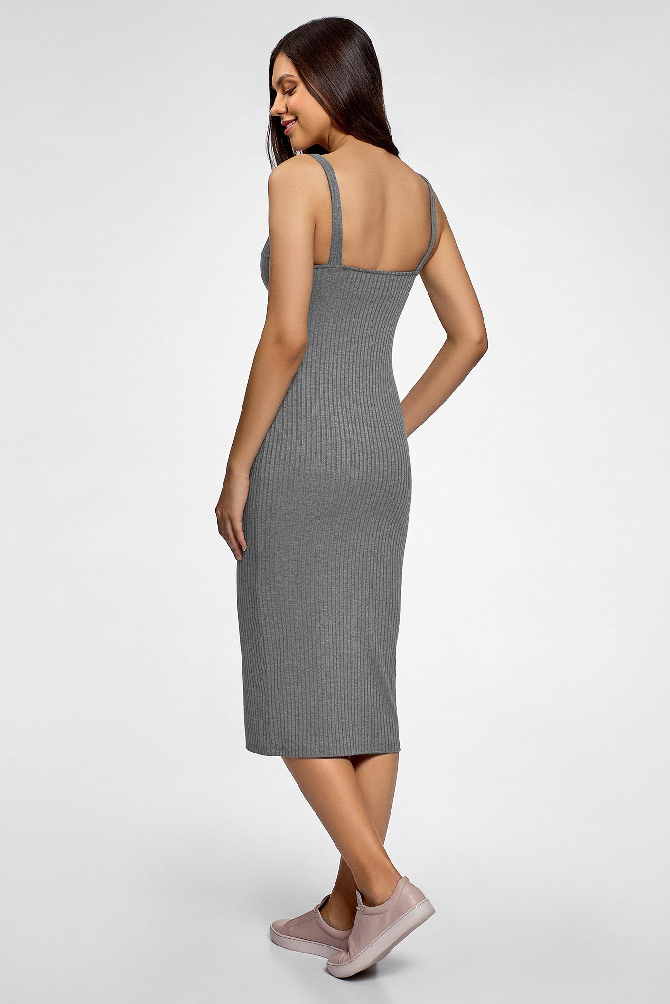 Жіноча сіра сукня Oodji