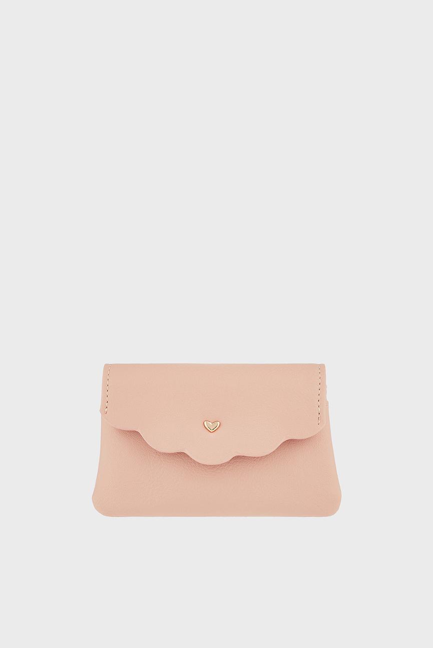 Детский розовый кошелек SCALLOPED HEART CHAR