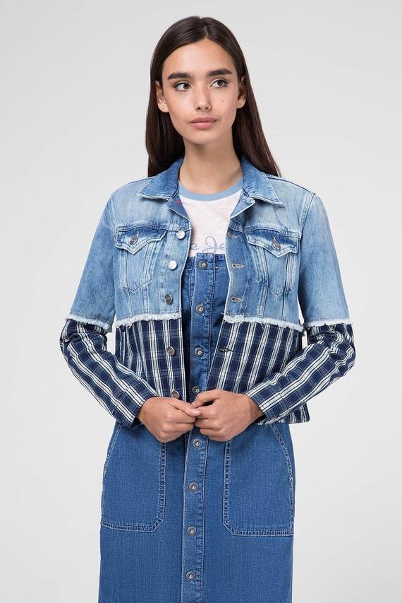 Женская голубая джинсовая куртка JESS MIX