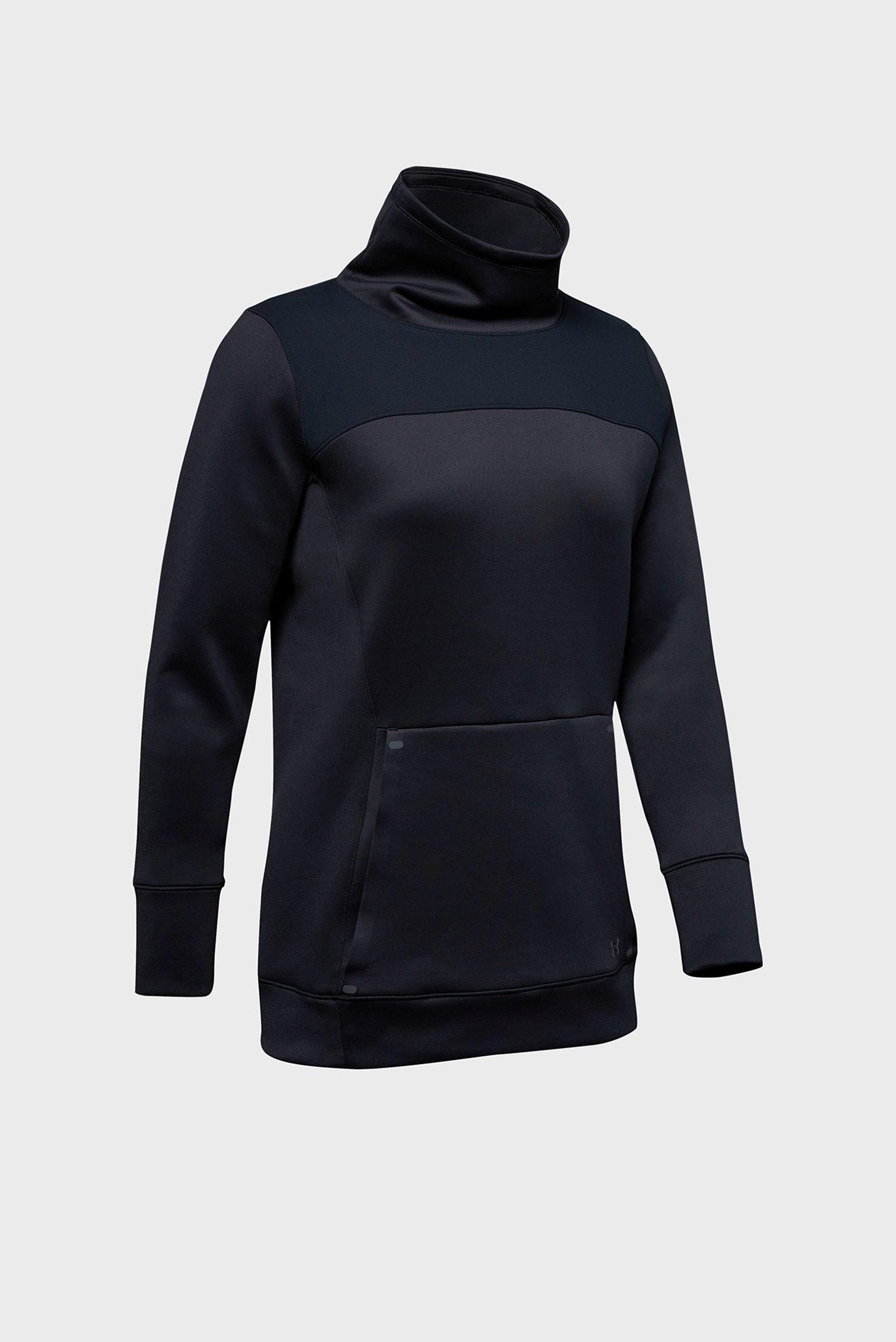 Женская черная спортивная кофта UA CG Armour Hybrid Pullover-BLK Under Armour