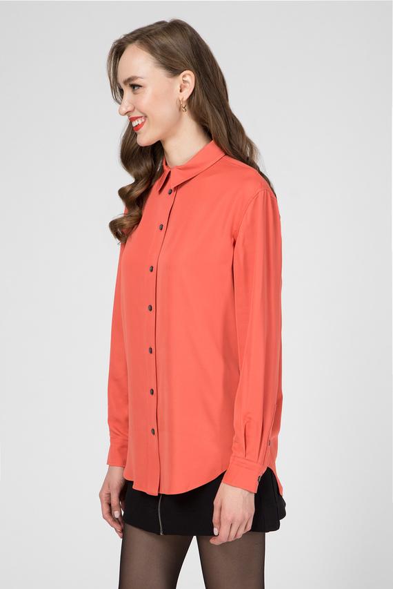 Женская оранжевая блуза LS PIPING DETAIL