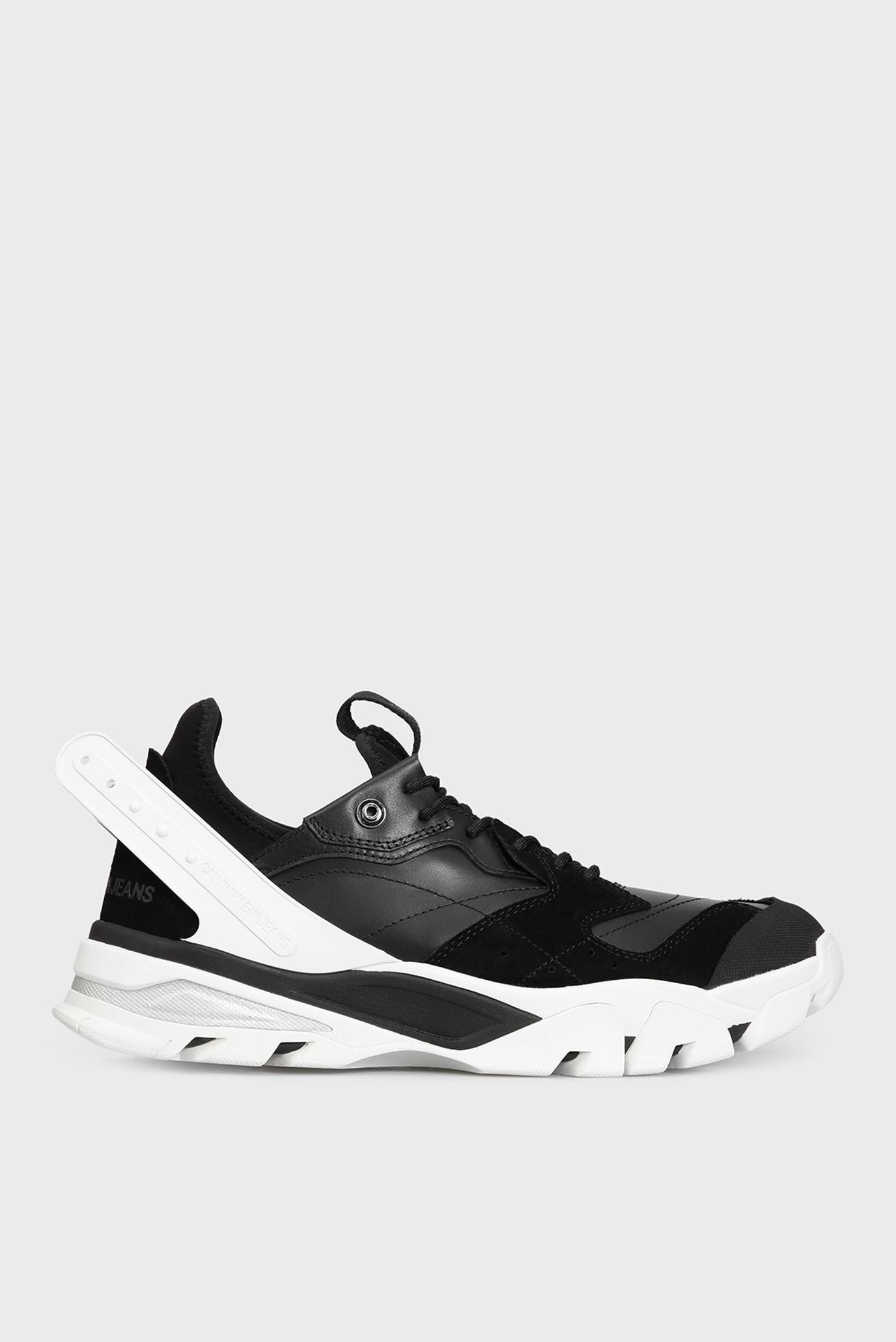 Чоловічі чорні шкіряні кросівки CALADOR 1