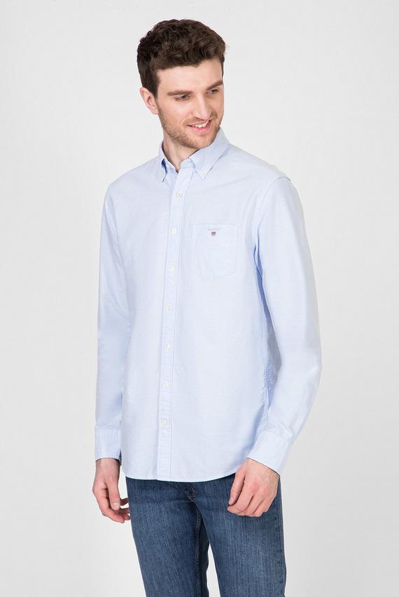 Мужская голубая рубашка THE OXFORD