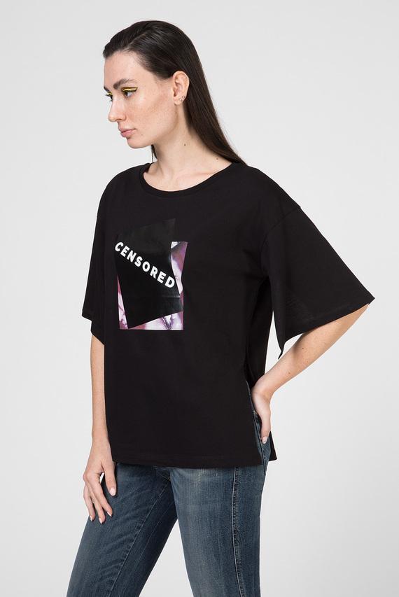 Женская черная футболка T-JACKY-J